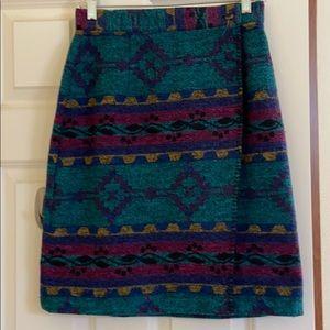 Pretty print wrap skirt